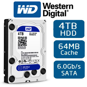 ổ cứng HDD Western Blue 4TB 64MB cache Sata 3