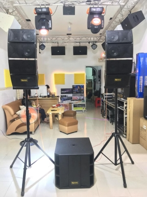 Dàn Loa Line Array Mini Bosa Z1111 2 Bass Sub Active 40