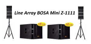 Dàn Loa Line Array Mini Bosa Z1111 Full với 2 SUB 5 tấc