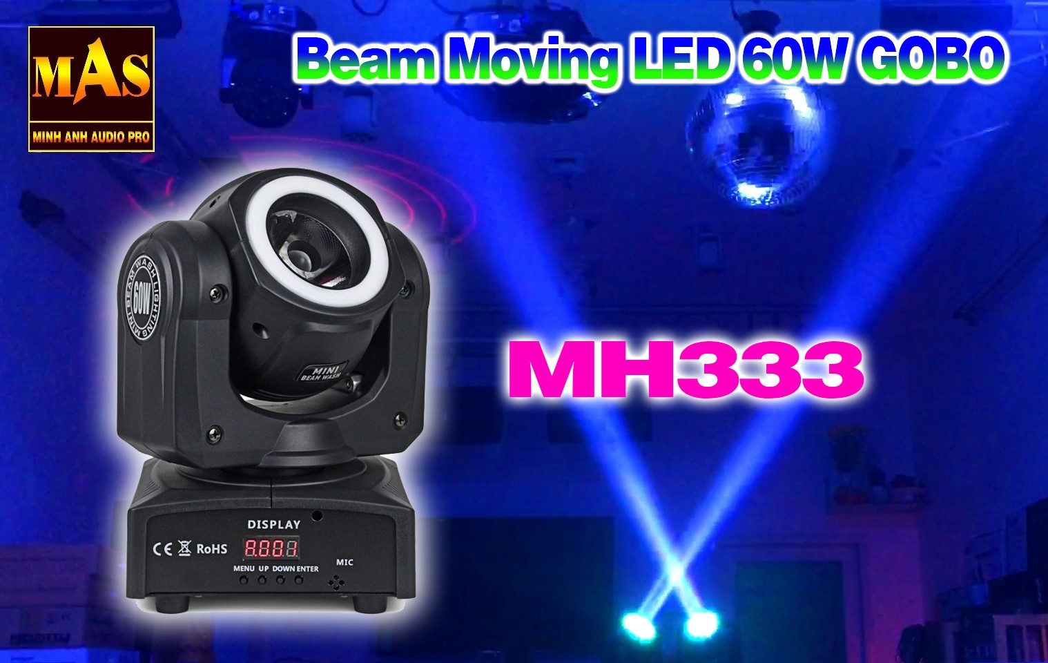 Đèn Moving Viền LED 60W GOBO MH333