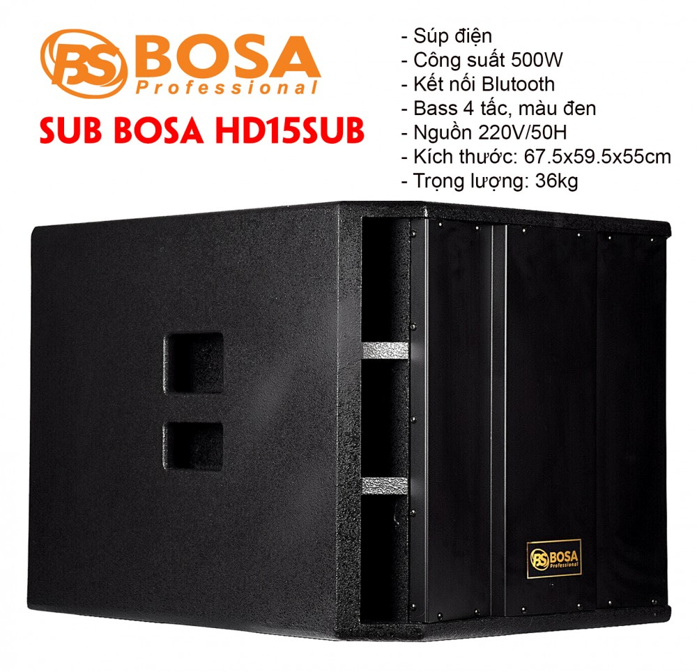 Sub 40 Active Liền Công Suất Bosa HD-15SUB