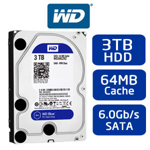 Ổ CỨNG HDD WESTERN BLUE 3TB 64MB CACHE SATA 3